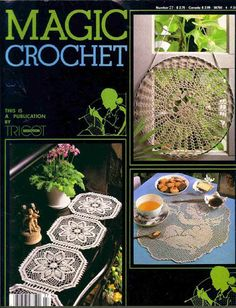 Magic Crochet nº 27  Mostly tablecloths and furniture covers.  Some edgings on the last few pages.