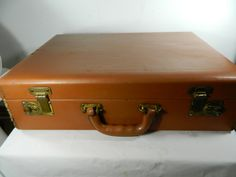 Vintage Leather Briefcase Light Brown Wear by 3sisterstreasures