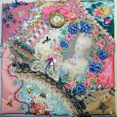 Marie Antoinette Crazy Quilt Block 6 | Block #6 of my Marie … | Flickr