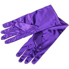 CellDeal Ladies Short Smooth Satin Wrist Gloves Great For Wedding Evening Prom + Purple: Amazon.co.uk: Clothing