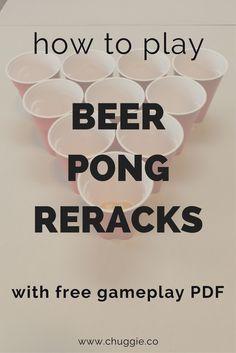 Beer pong cup formations,beer pong rerack,beer pong reracks,beer pong formations,reracks,beer pong rack names,official rules of beer pong,how to play beer pong reracks