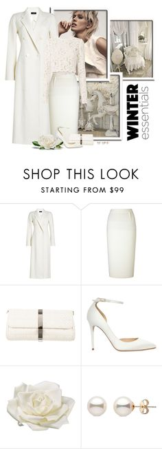 """""""White For Winter"""" by signaturenails-dstanley ❤ liked on Polyvore featuring Joseph, Roland Mouret, Chanel, Jimmy Choo, Allstate Floral and A.L.C."""