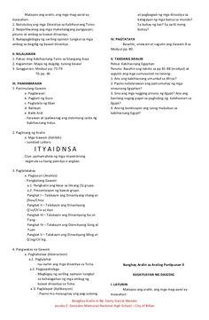 Banghay aralin sa araling panlipunan 9 4a's Lesson Plan, Lesson Plan Examples, Teacher Lesson Plans, Lesson Plan Templates, Lesson Planning, Cl, Biology, Corner, How To Plan