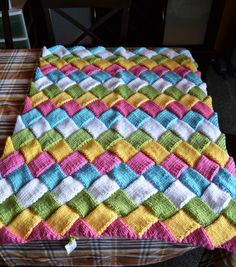 Easter Eggs Entrelac Baby Blanket/Lap Throw by craftconspiracy, $50.00