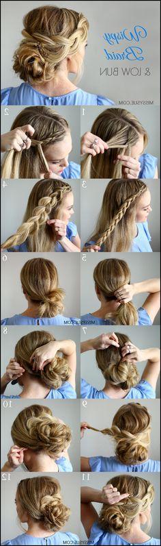 Wispy Braid and Low Bun | Frisuren | Pinterest | Low buns, Low bun ... #Frisuren #HairStyles Braid und Bun sind makellose Haarstyling-Heilverfahren spendieren aufregenden Look z. Hd. wunderschöne Mädchen. Mädchen bevorzugen Zopf denn mühel...