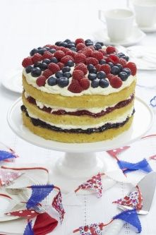 Jubilee Cake recipe by Ella Valentine Baking Eggs. Valentines Baking, Valentine Treats, Yummy Treats, Sweet Treats, Yummy Food, Fall Recipes, Yummy Recipes, Recipies, Independance Day