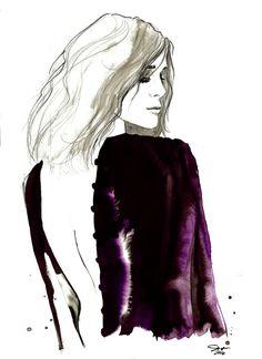 Purple Velvet print from original by JessicaIllustration on Etsy