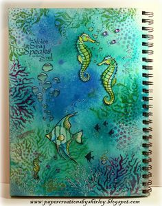 Paper Creations by Shirley: Art Journal Journey - Silence