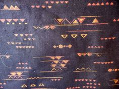 """VIP Cranston Black With Brown Geometric Print Polished Cotton Fabric 45"""" x  61"""" by Dockb30Crafts on Etsy"""