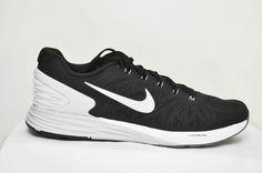 Nike Lunarglide 6 Men Running Shoes 654433 001 Black/White/Pr Platinum/Grey 11 #Nike #RunningCrossTraining