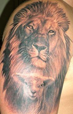 Christian Tattoo Ideas Lion Lamb