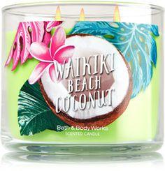 Waikiki Beach Coconut 3-Wick Candle - Home Fragrance 1037181 - Bath & Body Works