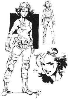 Meryl Silverburgh Sketch, Metal Gear Solid 1
