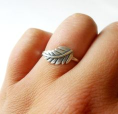 Fern Leaf Stacker Ring  Sterling Silver by GetNoticed on Etsy, $24.00