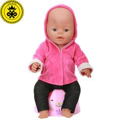 $8.82 - Nice Baby Born Doll Clothes Red Hooded Jacket + Black Trousers Suit fit 43cm Baby Born Zapf Doll Clothes Doll Accessories 541 - Buy it Now!