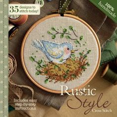 FREE!!! CrossStitcher January 2013 Rustic Style chart book