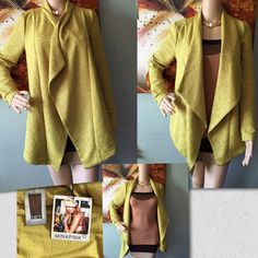Mink Pink Chartreuse Cardigan Sweater NWT Mink Pink MP36821 Chartreuse Women's Cardigan Sweater.Size XS shoulder to hem26' neck to arms 27' armpit to armpit 17 everything must go give me your best price offer plus additional 15% in your 2 or more bundles MINKPINK Sweaters Cardigans