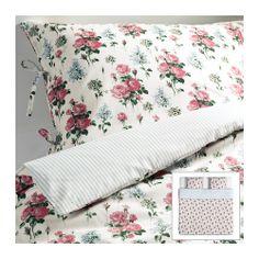 EMMIE SÖT Dobbelt sengesett IKEA Lyocell-/bomullsblandingen absorberer og transporterer bort fukt, og holder kroppen tørr om natten.