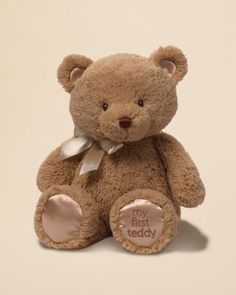 """Gund My First Teddy, 15"""" - Ages 0+ 