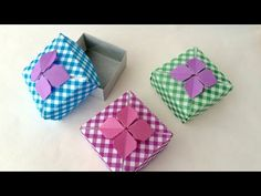折り紙 あじさい箱 Origami Hydrangea Box - YouTube