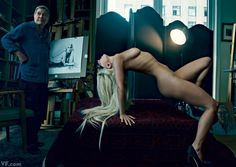 Lady Gaga with Tony Bennett in his Manhattan art studio, photographed by Annie…