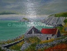 """""""Dingle"""" by Nuala Holloway - Oil on Board www.nualaholloway.com #Dingle #NualaHolloway #IrishArt"""