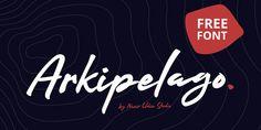 FREE FONT - Arkipelago Brush Script designed by Nasir Udin. Brush Script, Lettering, Typography Fonts, Sans Serif, Neon Signs, Blog, Free, Collection, Letterpresses