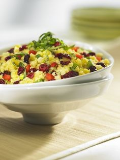 This has been my favorite grain salad for years. Couscous needs no cooking and can be ready in five minutes. Couscous also doesn't absorb much dressing so only 1 tbsp of oil is used. You can now buy whole grain…Read Cranberry Salad, Grain Salad, Couscous, Macaroni And Cheese, Salads, Favorite Recipes, Cooking, Ethnic Recipes, Dressing
