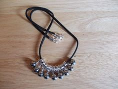 Silver coated agate charm necklace £8.00