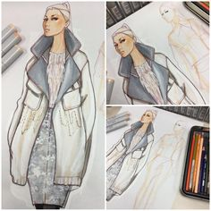 WIP | Fall 2015 RTW, design & illustration by Paul Keng.