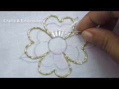 Hand Embroidery, Flower Embroidery Tutorial with Beads, Beads flower making – hand embroidery Hand Embroidery Videos, Hand Embroidery Flowers, Bead Embroidery Patterns, Embroidery Stitches Tutorial, Flower Embroidery Designs, Bead Embroidery Jewelry, Ribbon Embroidery, Art Patterns, Embroidered Flowers