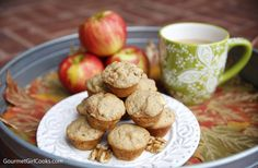 Happy Friday & Happy Fall! I've got a new muffin recipe featuring two of my favorite fall flavors and aromas; apples and cinnamon! Since my ...