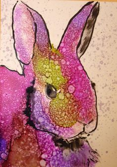 This is a just for fun painting print, I love animals done in surprising ways and this is one of those. The painting is done in alcohol ink, a very unpredictable and challenging medium. So the this is a rabbit of another color, so hes become a Raggit. Your print will come on acid-free paper it measures 8X10, I will sign and date the back. All prints are well packaged. Thanks for visiting.