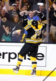 Torey Krug celebrates his first NHL goal loving the strongman arms! 947485f3c