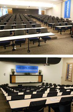 Iowa Prison Industries custom furnishing project: Drake University lecture hall
