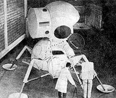 Soviet Union LK Proton Lander. Back view.