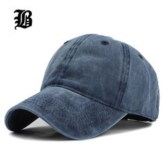 d182d054bca High quality Washed Cotton Adjustable Solid color Baseball Cap Unisex  couple cap Fashion Leisure dad Hat Snapback cap