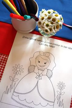 snow white coloring sheet