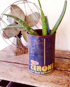 Rusty & Distressed Blue and Yellow DUPONT Zerone by JunctionARow