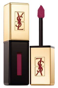 Trending - berry lip for fall. Achieve the look with this YSL lip stain.