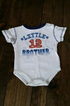 Little Brother onesie. Size 12 months. $2. 12 Months, Brother, Onesies, Size 12, Garage, Kids, Baby, Fashion, Carport Garage