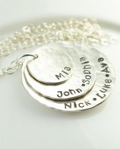 Sterling silver layered name necklace