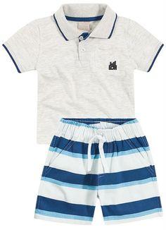 75808037f Conjunto Infantil masculino Milon Moda De Bebê Menino