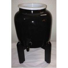 Continuous Brew- Ceramic Black Solid Water Dispenser and Black Counter Stand Black Counters, Water Dispenser, Brewing, Foods, Ceramics, Home Decor, Food Food, Ceramica, Food Items