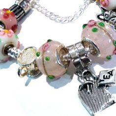 Tea Time Charm Bracelet  Alice in Wonderland  We are all mad