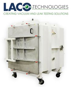 """LACO's Cube Industrial (CI) series vacuum chambers feature cube design with aluminum or stainless steel construction. The 45"""" x 45"""" x 45"""" carbon steel body with an aluminum door. Cube designed vacuum chambers offers the most efficient use of space. The CI series #vacuumchambers achieve vacuum performance down to 10-3 Torr. #vacuumchamber http://www.lacotech.com/vacuumchambers/carbonsteelcubicchambers/carbonsteelcubicchambers+lvc454545-5222-ci.aspx"""