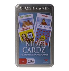 Kidz Cards in Tin - Lowest Prices & Specials Online Going Fishing, Baby Toys, Card Games, Tin, Entertaining, Cards, Pewter, Maps, Playing Cards