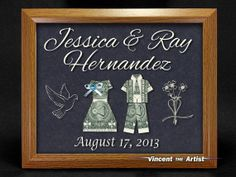 Beautiful Wedding Sign Made of Money Dollar by VincentTheArtist, $39.00