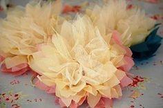 rosas de tul y tela