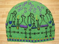 I'm looking for more science based knitting. Ravelry: MAD Science pattern by Deborah Tomasello Fair Isle Knitting, Knitting Yarn, Knitting Patterns, Crochet Patterns, Mad Science, Science Art, Knit Crochet, Crochet Hats, Mitten Gloves